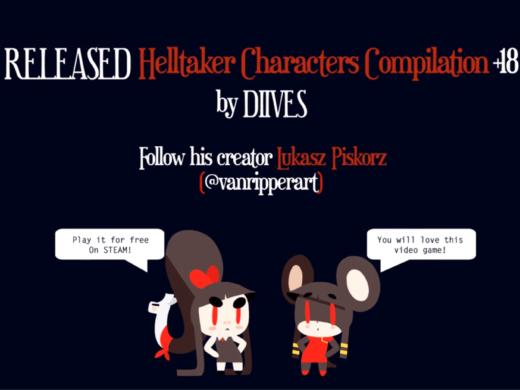 原作風ファン動画「Helltaker Characters Compilation」